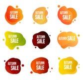 Autumn Sales Buttons vector illustratie