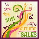 Autumn sales flyer. Retro poster Royalty Free Stock Photo