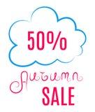 Autumn Sales Icon Imagen de archivo libre de regalías
