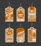 Autumn Sales Labels Imagen de archivo libre de regalías
