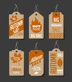 Autumn Sales Labels Royalty Free Stock Image