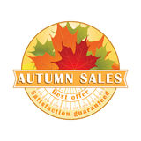 Autumn Sales Stamp/etikett Royaltyfri Foto