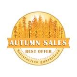 Autumn Sales Stamp/etikett Royaltyfria Foton