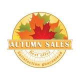 Autumn Sales Stamp/etiqueta Foto de archivo libre de regalías
