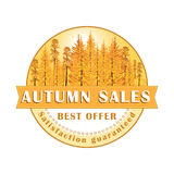 Autumn Sales Stamp / Label. Royalty Free Stock Photos