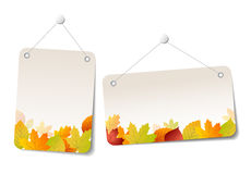 Autumn Sales Stickers - Etiketten Royalty-vrije Stock Foto's