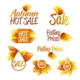 Autumn Sales Theme Imágenes de archivo libres de regalías