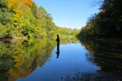 Autumn salmon fishing stock photos