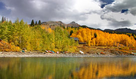 Autumn in San Juan mountains Stock Photography