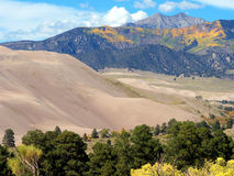 Autumn Sand. Autumn at the Great Sand Dunes National Park in Colorado royalty free stock photos