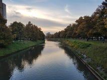 Autumn in Sarajevo, Bosnia&Herzegovina. Nice view from the bridge royalty free stock photos