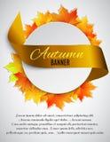 Autumn satin ribbon Stock Photos