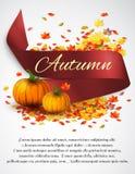 Autumn satin ribbon Stock Photo