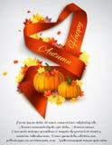 Autumn satin ribbon Stock Photography