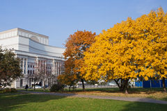 Autumn Saxon Garden in Warshau Royalty-vrije Stock Fotografie
