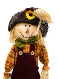 Autumn Scarecrow. A scarecrow isolated on a white background, autumn scarecrow Stock Photos