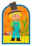 Autumn Scarecrow Fotografia de Stock Royalty Free