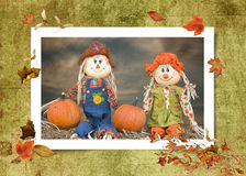 Autumn Scarecrow Couple Stock Photos