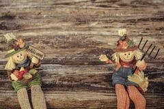 Autumn Scarecrows Royaltyfria Bilder