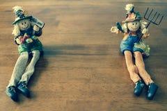 Autumn Scarecrows. Image of Two Autumn Scarecrows Stock Photography