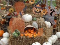 Autumn Scene. Image of an autumn scene with pumpkins stock photos