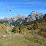 Autumn scene in Arosa Stock Photo