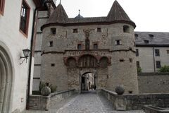 Fortress Marienberg entrance gate royalty free stock photography