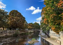 Autumn scene in a city Royalty Free Stock Photo