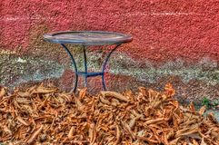 Autumn scene in Greek village Stock Photo