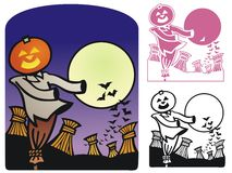 Autumn Scene For Halloween Stock Image