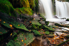 Autumn scene with Keila-Joa waterfall, Estonia Stock Photo