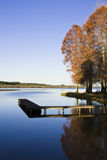 Autumn scene by the lake Stock Photography