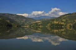 Autumn scene at lake Begnas Tal Stock Photos