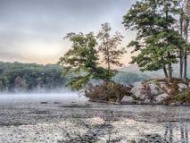 Autumn scene on lake Stock Photo