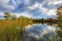 Autumn scene on lake Stock Photography