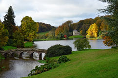 Autumn scene by a lake in Somerset, England. Royalty Free Stock Photography