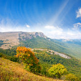Autumn scene in mountains Royalty Free Stock Photography