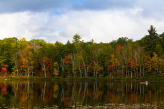 Fall scene on a small lake Stock Photography
