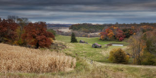 Autumn Scene - 5. An old farmstead in Southeastern Minnesota Stock Photography