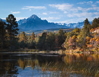 Autumn Scene in San Juan Mountains Lizenzfreie Stockbilder