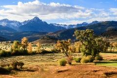 Autumn Scene in San Juan Mountains stockfotos