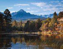 Autumn Scene in the San Juan Mountains. Autumn color in the San Juan Mountains of Colorado Royalty Free Stock Images