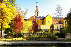 Autumn scene in Tapolca Royalty Free Stock Images
