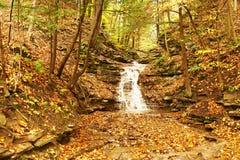 Autumn scene of waterfall Stock Photo