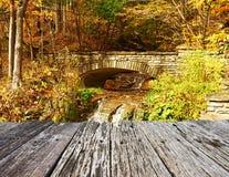 Autumn scene of waterfall Stock Photos