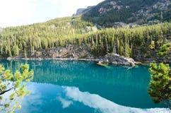 Autumn Scenery av hästsko sjön, stenig kanadensare fotografering för bildbyråer