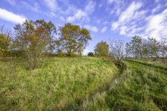 Autumn scenery of british countryside. stock photography