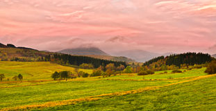 Autumn scenery in the hills Stock Photo