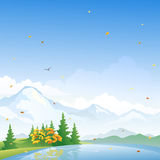 Autumn scenery. Illustration of a beautiful fall landscape Royalty Free Stock Photos
