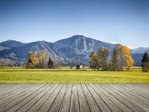 Autumn scenery. An image of an autumn scenery in bavaria germany Stock Photo